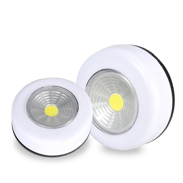 COB LED Under Cabinet Light With Adhesive Sticker Wireless Wall Lamp Wardrobe Cupboard Drawer Closet Bedroom Kitchen Night Light
