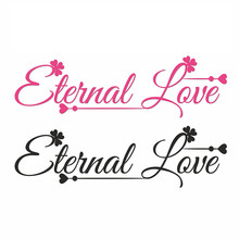 Naifumodo Letter Eternal Love Metal Cutting Dies Scrapbooking for Card Making DIY Embossing Die Cut New Craft Word