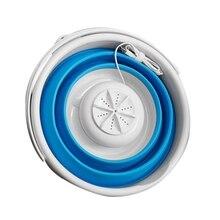 Горячее предложение! США Plug Мини Портативный ультразвуковой турбины стиральная машина Складной Тип Ведра Usb Прачечная машина для стирки одежды очиститель для дома