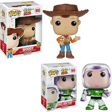 FUNKO POP Disney Cartoon Movie Toy Story Woody & BUZZ LIGHTYEAR Action Figure Collection Model Toys For Children Christmas Gift(China)