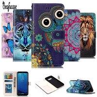 For Funda Samsung Galaxy S8 Case Leather Flip Cover For Samsung Galaxy S 8 Case Wallet