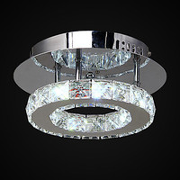 Flush Mounted Modern Crystal LED Ceiling Lights Lamp With 1 Lights, Lustres De Sala Free Shipping