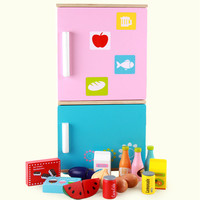 New Wooden Baby Toys Wooden Refrigerator Toys Sets