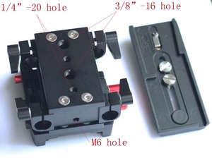 Image 3 - 15mm Rail Rod Quick Release QR Baseplate For Follow Focus support DSLR Rig camera and tripod