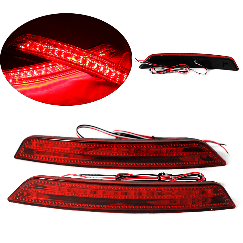 Car-styling Tail Rear Bumper Lamp LED Reflector stop Brake light fog lamp For Ford Mondeo 2008 2009 2010 rear fog lamp spare tire cover tail bumper light fit for mitsubishi pajero shogun v87 v93 v97 2007 2008 2009 2010 2011 2012 2015