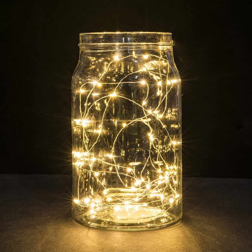 5pcs 1m 10 Led Battery Operated Copper Wire String Lights Xmas Starry Fairy Lights For Garland Party Wedding Decoration 0 56