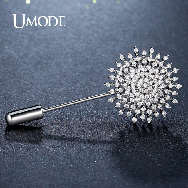 UMODE Fashion Flower Brooches for Women Jewelry Wedding Bridal Apparel Accessories Austrian Crystal Brooch and Pins Gift AUX0009