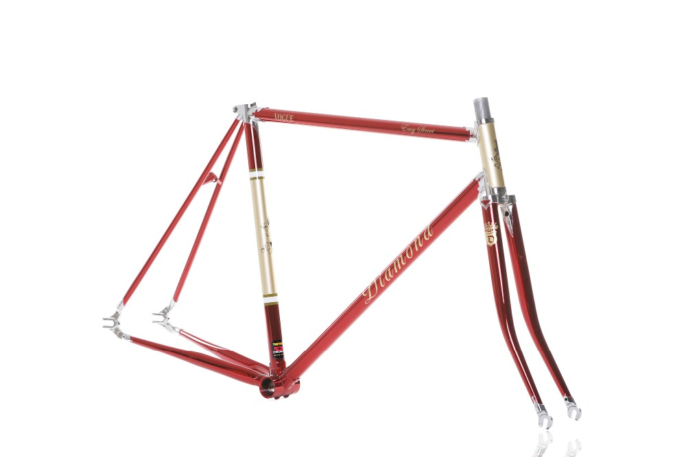 700C Reynolds Pipe <font><b>frame</b></font> fork Chrome-Molybdenum <font><b>Steel</b></font> road <font><b>bicycle</b></font> fixed gear <font><b>bicycle</b></font> Vintage <font><b>Bicycle</b></font> <font><b>frame</b></font> columbus pipe <font><b>frame</b></font> image