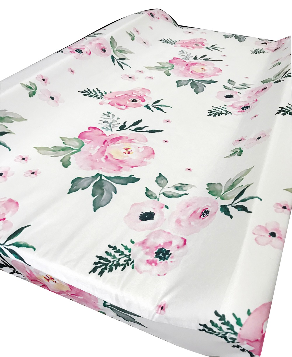 Baby Changing Pad Covers Infants Fitted Changing Table Sheets For Girls Boys    (Pink Floral)
