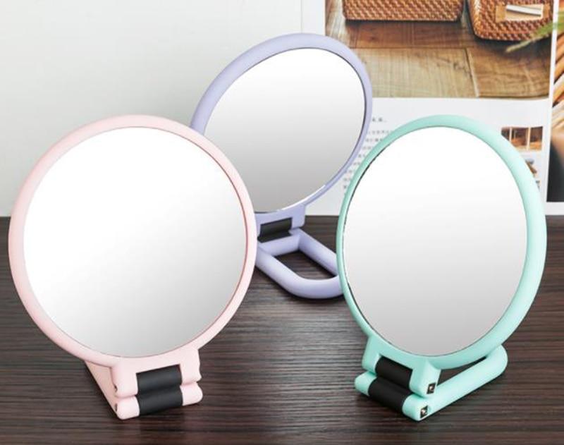 10x Make-up Spiegel Desktop Dressing Spiegel Folding Buch Desktop Prinzessin Weibliche Schönheit Griff Doppel-seitige Vergrößerungs Spiegel Spiegel Schönheit & Gesundheit