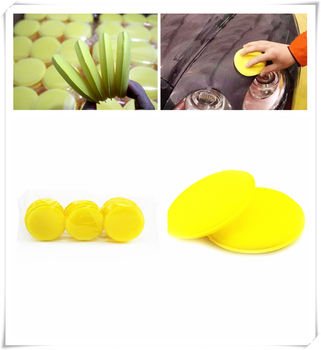 Car modeling wax foam sponge yellow pad cleaning anti-mite for BMW E46 E39 E38 E90 E60 E36 F30 F30 image