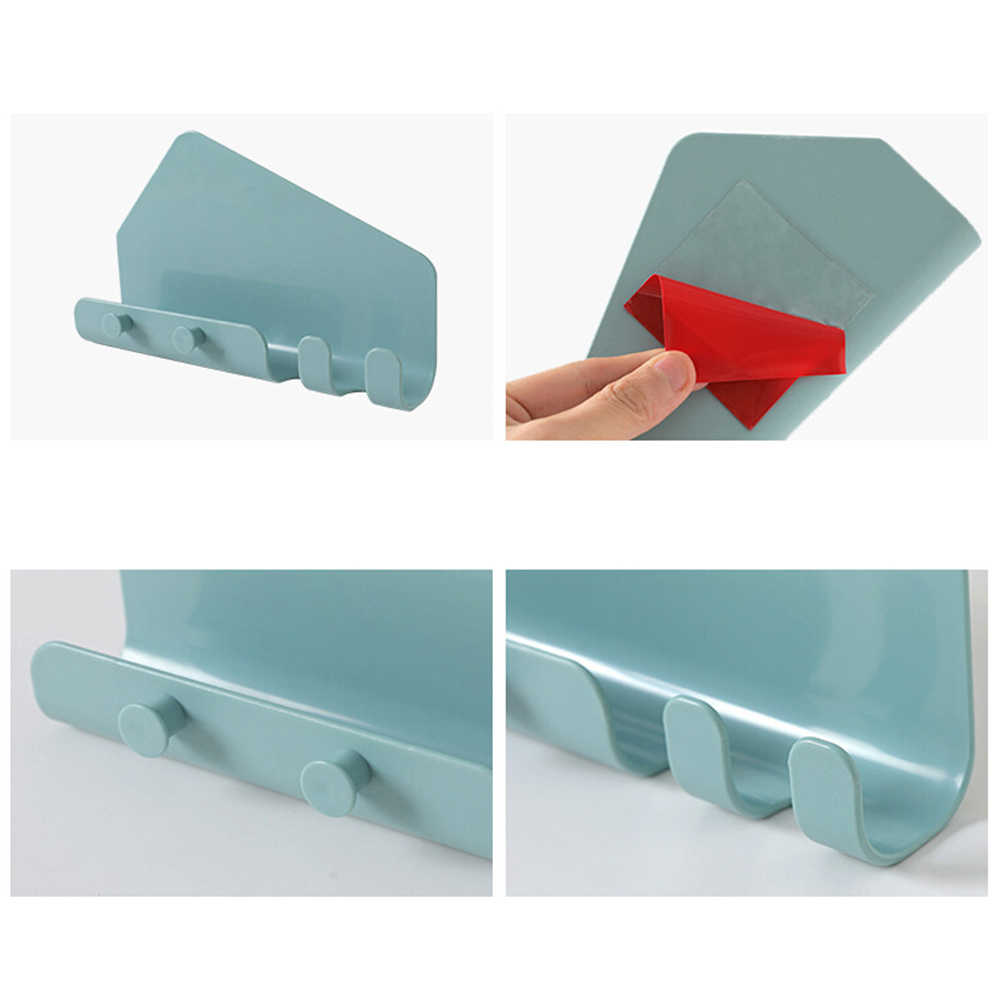 Telefone adesivo tablet suporte de montagem na parede gancho traceless cabide rack de armazenamento titular