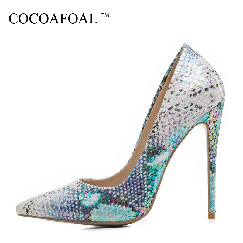 COCOAFOAL Woman Wedding Pumps Plus Size 33 - 43 Fashion Sexy Ultra High Heels Shoes Party Stiletto Pointed Toe Pink 12 CM Pumps luxury crystal wedding shoes pointed toe high heels sexy party pumps stiletto vintage white flowers big size 43 34 transparent