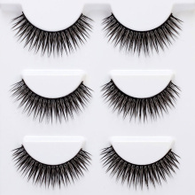 цены 3 Pairs False Eyelashes Set Natural Cross Long Thick Reusable Eye Lashes Extension Makeup Tools JIU55