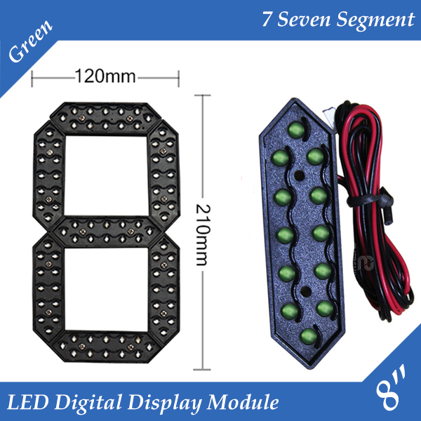 10pcs/lot 8 Green Color Outdoor 7 Seven Segment LED Digital Number Module for Gas Price LED Display module 10pcs/lot 8 Green Color Outdoor 7 Seven Segment LED Digital Number Module for Gas Price LED Display module