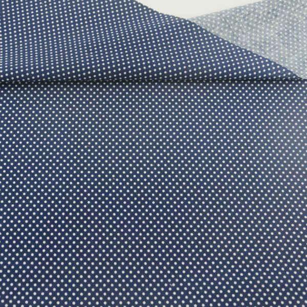 Biała kropka projekt niebieski tkanina bawełniana Patchwork biurko odzież dla lalek DIY Scrapbooking rzemiosło tekstylia domowe dekoracje tkaniny do szycia CM