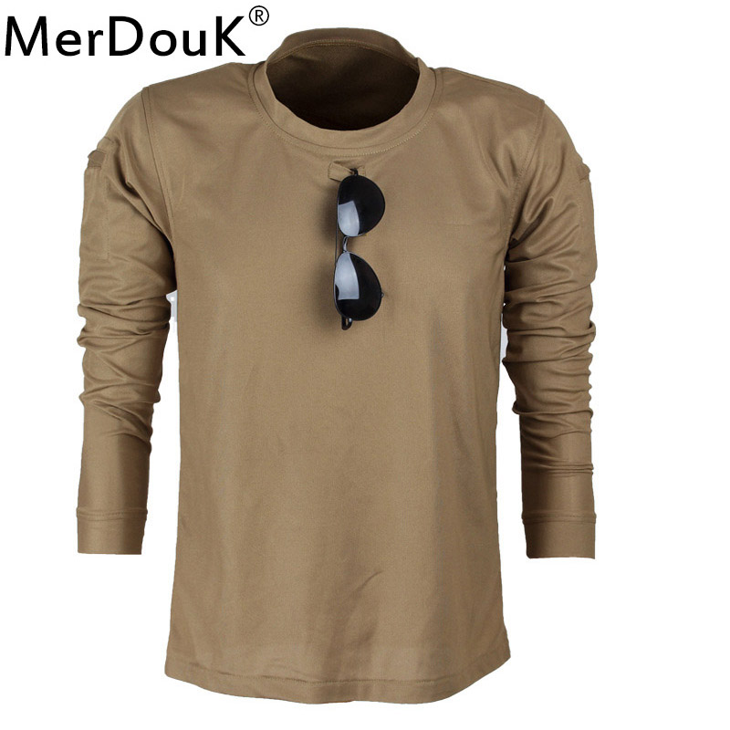Men Tactical Military Camouflage   T     Shirt   Long Breathable Quick Dry US Army Combat Full Sleeve   T  -  Shirts   Male