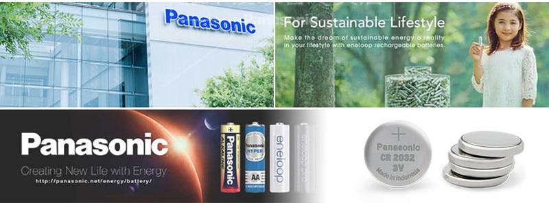 Panasonic original 200 pçslote cr 2032 botão