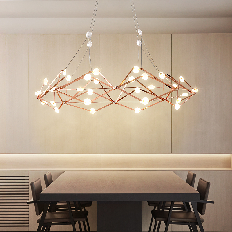 Post-modern chandelier Nordic hanging lights restaurant pendant lamps living room lighting fixtures LED suspension luminaire nordic retro fixtures post modern chandelier living room hanging lights restaurant lamps bar lighting cafe chandeliers