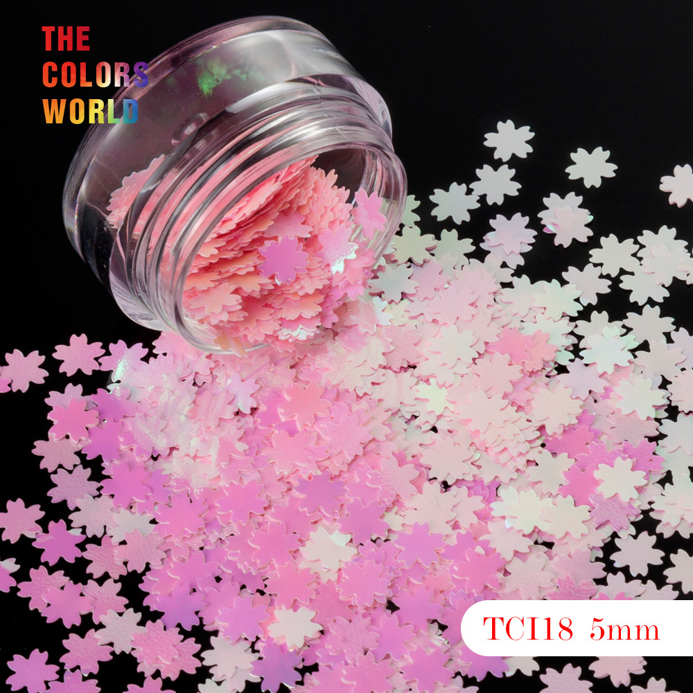 Logisch Kirschblüten Form Perlglanz Iridescent Glitter 5 Mm Größe Für Nagel Glitter Nail Art Dekoration Make-up Facepaint Diy Schmücken Elegantes Und Robustes Paket Schönheit & Gesundheit