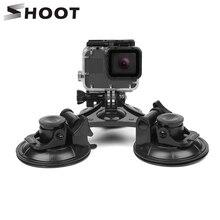 Присоска для лобового стекла автомобиля SHOOT, большая/маленькая присоска для GoPro Hero 8 7 6 5 Black Sjcam H9 Yi 4K, держатель штатива для экшн камеры