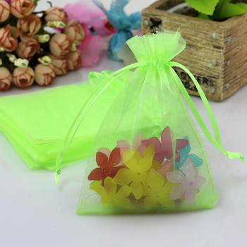 1000pcs 9x12cm Light Green Organza Bags Wedding Fvaor Candy Jewelry Packaging Bag Cute Organza Pouches Small Gift Bags Wholesale