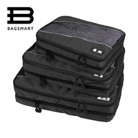 BAGSMART 3 Pcs Double Layer Packing Cube For Clothing Zippers Luggage Bag For Shirt Travel Duffle Luggage Organizer For Garmen