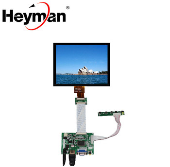 "HDMI/VGA/AV Control Driver Board+8""inch HE080IA-01D 1024*768 high LCD Display For Lattepanda,Raspberry Pi Orange Pi"