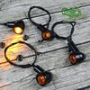 Universal Vintage calssic Motorcycle custom LED turn signal light Cornering lamp turn light steering lamp direction indicator review