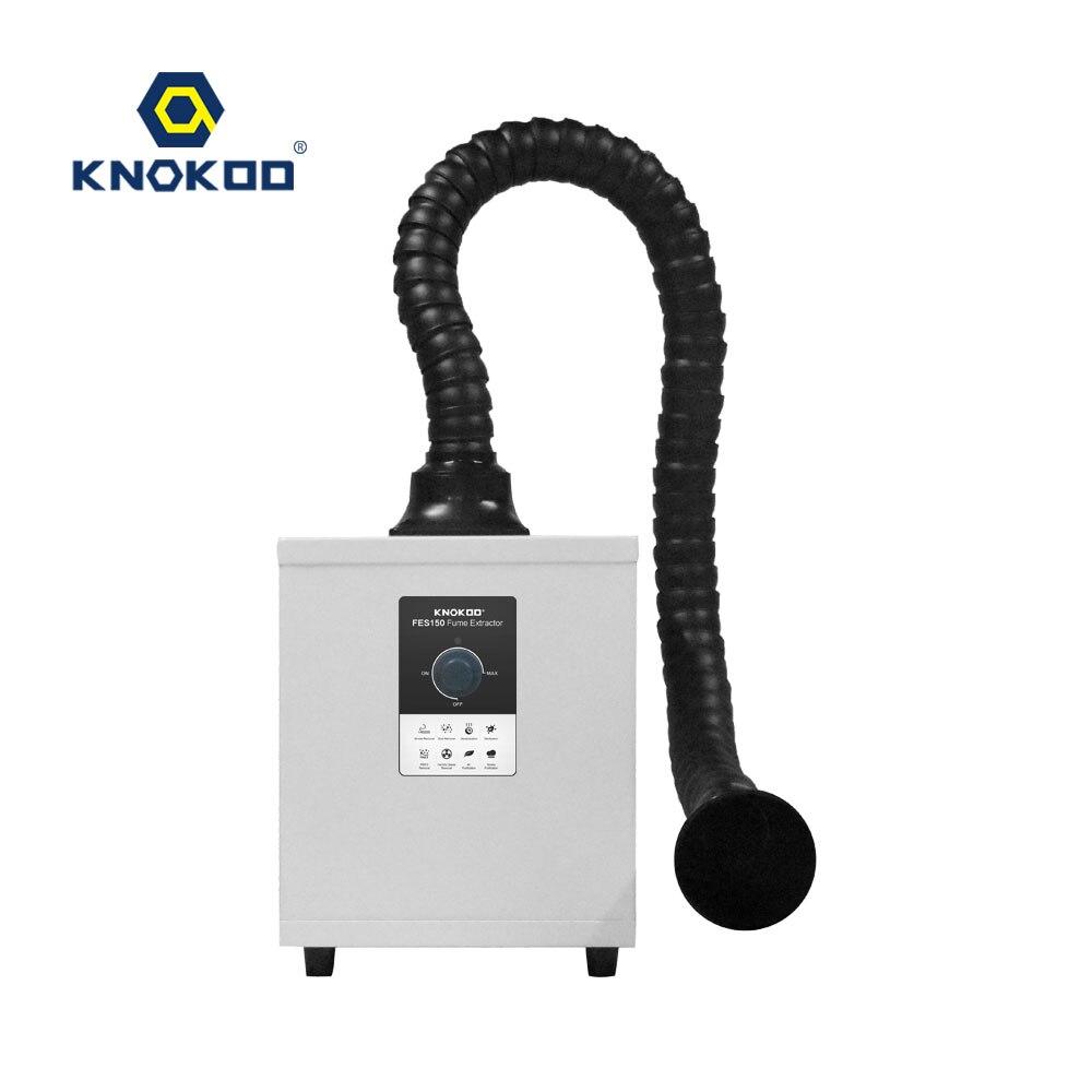 KNOKOO 150W Mini Style Fume Extractor Laser Single Channel Welding Soldering Smoke Absorber FES150