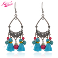 Tassel shaped turquoise earring cheap triangle pendientes vintage mujer boho earrings for women