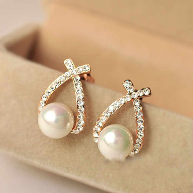 1 Pair Elegant Women Lady Fashion Crystal Rhinestone Ear Stud Earrings 10.3