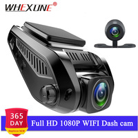 WHEXUNE WiFi Car DVR Dashboard Recorder 2.4 INCH MINI Dash Cam Camera Novatek 96658 dual lens Camcorder FHD 1080P Night Vision