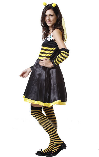 Stage Performances Halloween Party Dress Up Adult Animal Dress Lovely Playful Sexy Bee Costume with wings  sc 1 st  AliExpress.com & Aliexpress.com : Buy Stage Performances Halloween Party Dress Up ...