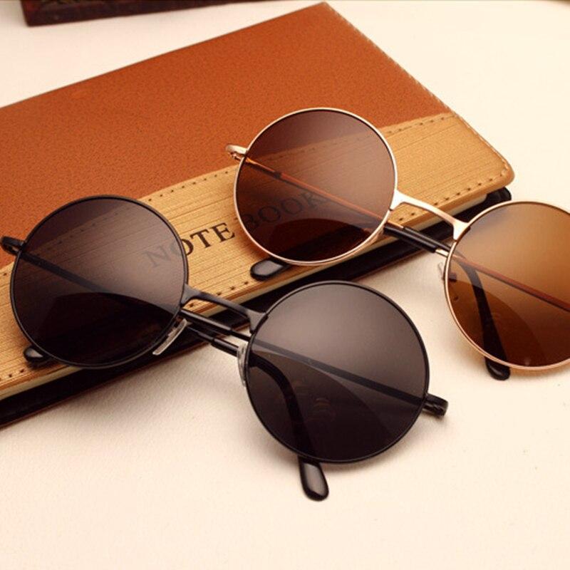 Round Sunglasses Oculos Frame Female Retro Silver Black Unisex Womens Eyewear For Gafas