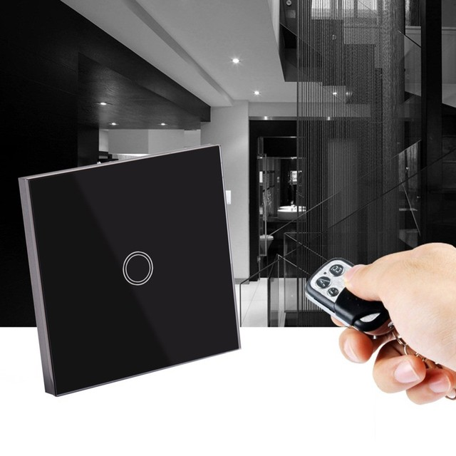 Smart Touch Wall Switch 1 Gang 1 Way Wireless Remote Control 433mhz Light Switch EU/UK, Smart Home Automation Module