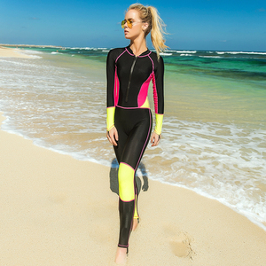 Image 4 - לייקרה צלילה חליפות נשים שנורקלינג ציוד מים ספורט סרבל בגדי ים חליפת צלילה פריחה משמרות נשים של חתיכה אחת בגדי ים