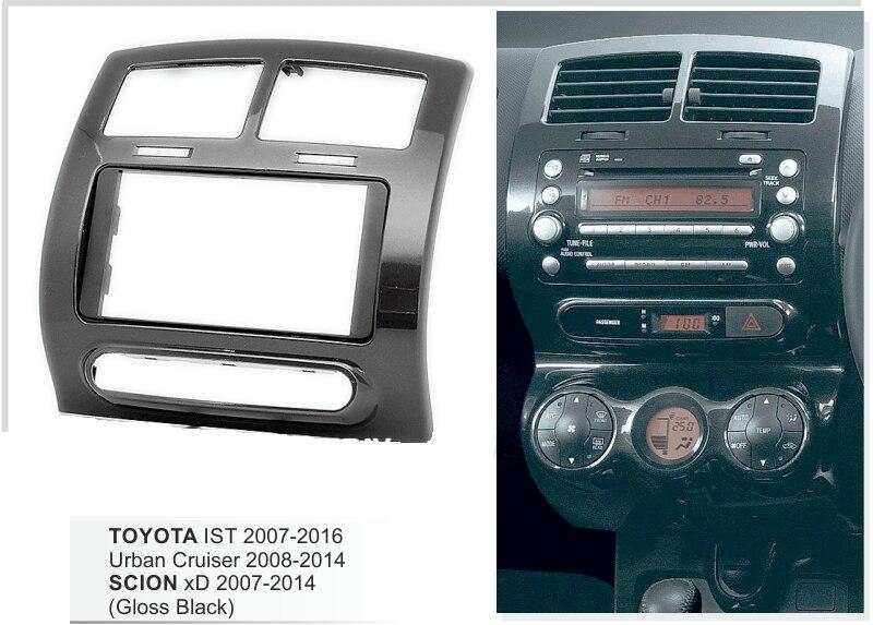 Двойной Дин Радио Fasica для Toyota IST 2007+, Urban Cruiser 2008+, scion xD 2007-2012 переходная тире комплект лицевой отделкой Панель