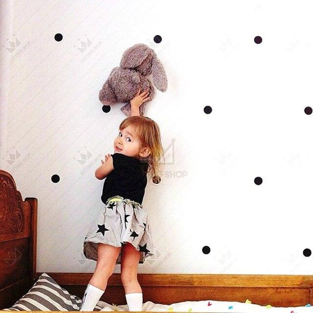 Bateau libre 60 pièces Pois colorés vinyle Stickers Muraux maison bricolage décor CUISINE salle de bains réfrigérateur armoire SALLE de JEUX