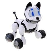 Animais fofos RC Robô Inteligente Inteligente de Controle De Voz Cão Gato Brinquedos Infantis de Dança Interativa Inteligente Cantar Brinquedos Presente Do Miúdo