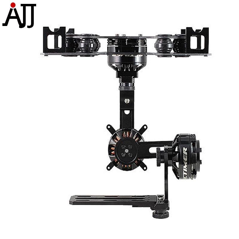 Rctimer Black ASP 3 Axis Nex-GH5 Camera Brushless Gimbal Black-ASP3A with GBM4114 GBM4108 Brushless Gimbal Motor