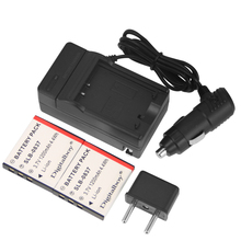 Hot! 2Pcs Battery + Charger SLB-0837 SLB0837 SLB 0837 Camera Rachargeable Battery For Samsung Digimax i5 i6 i50 L60 NV3 NV7