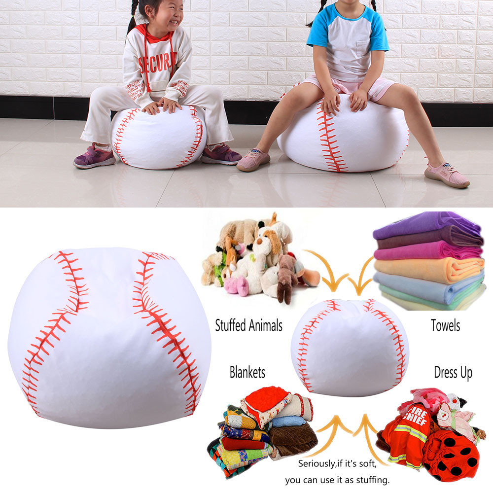 Incredible Kid Stuffed Animal Plush Basketball Style Toy Storage Bean Short Links Chair Design For Home Short Linksinfo