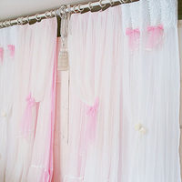 Design Julliette Princess White Pink Curtain Piaochuang Fitting Room Customize