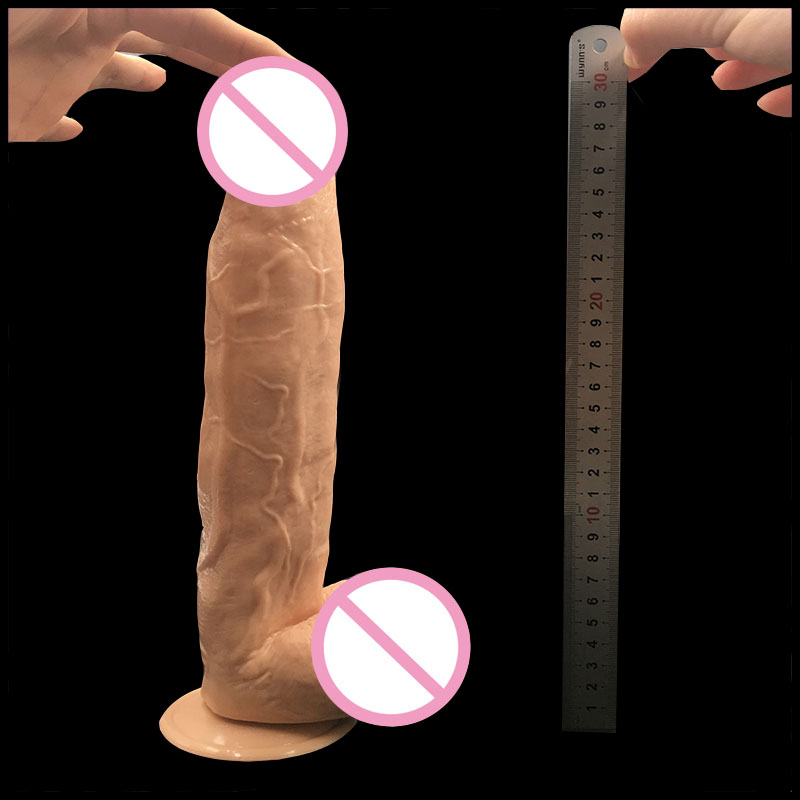 31cm Extreme Big Realistic Dildo Super Thick Huge Big Dildo Sturdy Suction Cup Penis Dick Dong for Women Sex Toys sex product 32 5 7cm big dildo super huge thick giant dildos sturdy suction cup realistic soft penis dick for women horse dildo sex toy