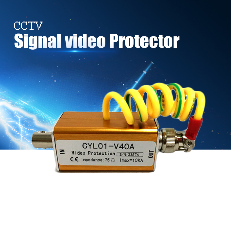 YiiSPO Surge Arrester BNC Mashkull Sinjal video Mbrojtës Thunder vetëtima për AHD / tvi / cvi kamera koaksiale kamera analoge vjen me kamera