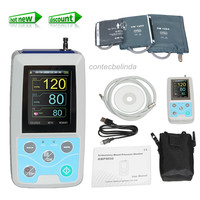 CE CONTEC ABPM50 24 Hours Ambulatory Blood Pressure Monitor+Software+Cuffs(Adult,Large Adult,Child Cuff)
