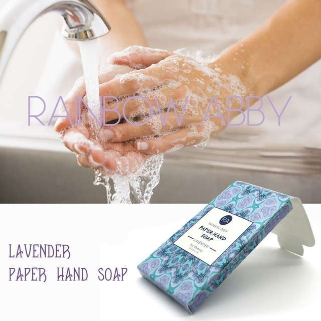 25pcs Disposable Boxed Soap Paper Travel Portable Hand Washing Box Scented Slice Sheets Mini Soap Paper 2