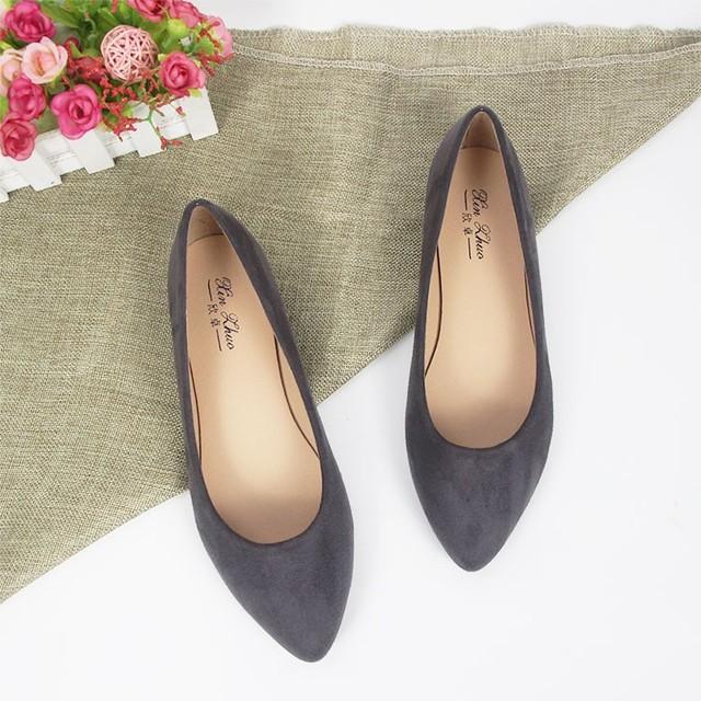 New retro versatile flat shoes fashion trend ladies plus size women's shoes comfortable work shoes 33-44