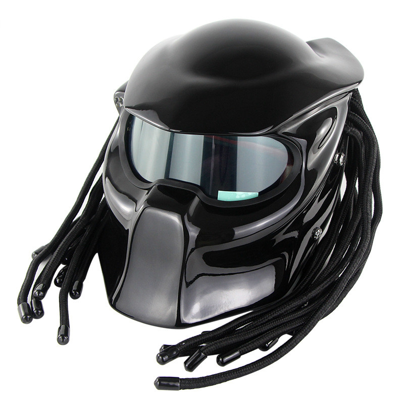 Predator Motorcycle Helmet Super Personality Braid Riding Helmet With Laser Light